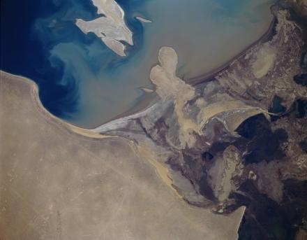 Amu Darya Delta, Public Domain Image - Source NASA